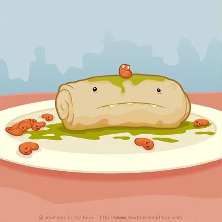 don't blame the burrito…