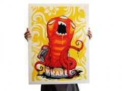 Dolphin Safe Kraken print